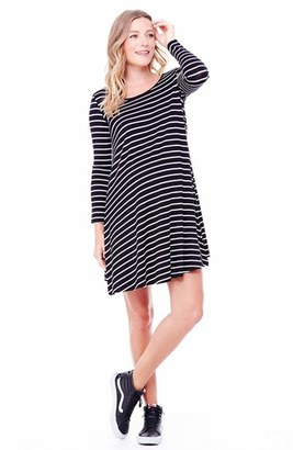 Women's Ingrid & Isabel Striped Maternity Trapeze Dress $88 thestylecure.com