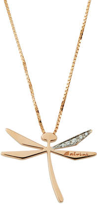Salvini 18k Rose Gold Diamond Dragonfly Pendant Necklace