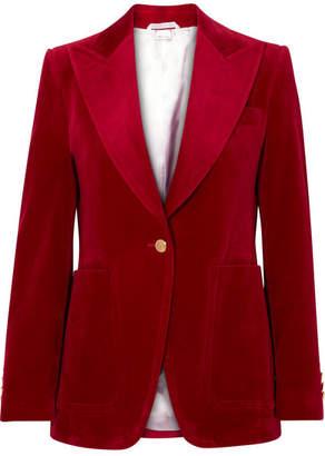 Gucci Cotton-blend Velvet Blazer - Claret