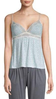 Eberjey Lace-Trimmed Printed Camisole