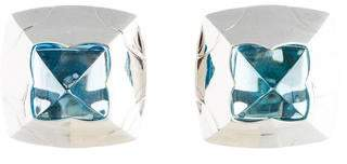 Bvlgari Topaz Pyramid Clip On Earrings