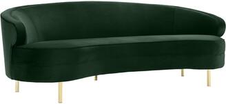 Tov Furniture Baila Green Velvet Sofa