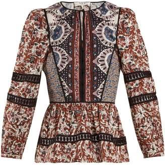 Sea Gemma floral-print cotton blouse
