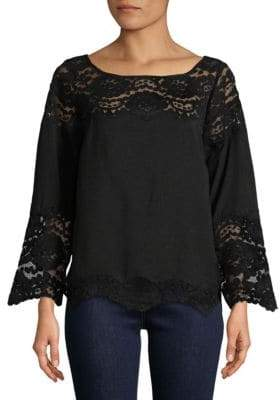 Plenty by Tracy Reese Lace Bell Sleeve Top