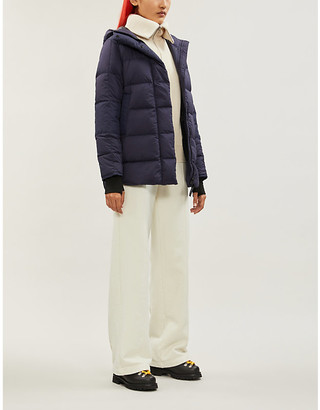 Canada Goose Alliston brand-patch drawstring-hood shell jacket