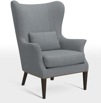 At Rejuvenation · Rejuvenation Clinton Modern Wingback Chair With Nailheads