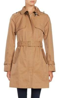Cole Haan Hooded Trenchcoat