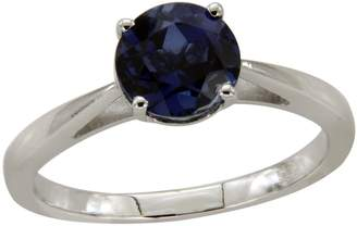 Panache Exports 2.02ct Round Sapphire Solitaire Engagement Ring 925 Sterling Silver Size 6.5