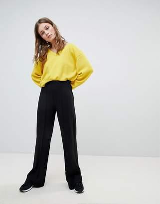 Bershka Wide Leg PANTS In Black