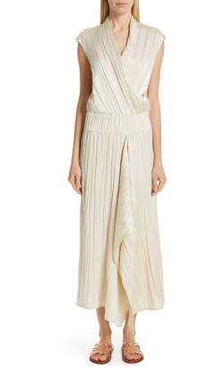 Zero Maria Cornejo Plisse Linen & Silk Dress