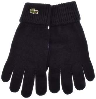 Lacoste Merino Wool Gloves Navy