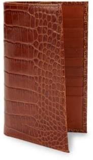 Abas Embossed Leather Bi-Fold Wallet