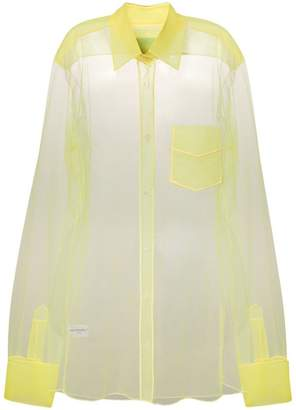 Viktor & Rolf long-sleeve sheer blouse