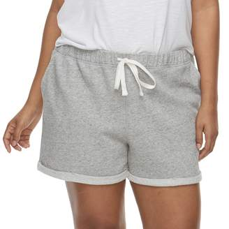 So Juniors' Plus Size SO Roll Cuff French Terry Shorts