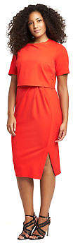 V by Very Curve Wrap Detail Double Layer Dress