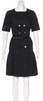 Burberry Short Sleeve Knee-Length Dress