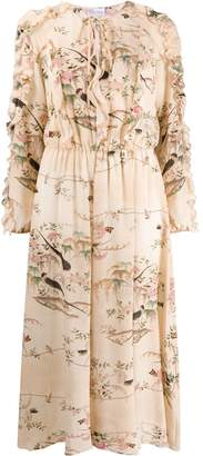 RED Valentino RED(V) floral and bird print dress