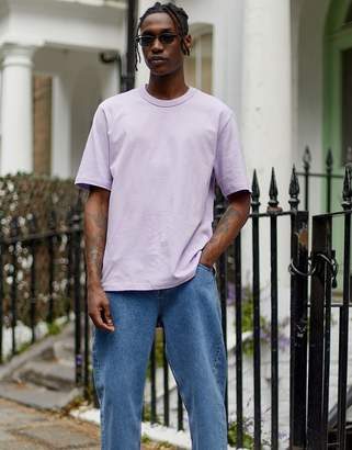 Asos loose fit heavyweight t-shirt in pastel lilac