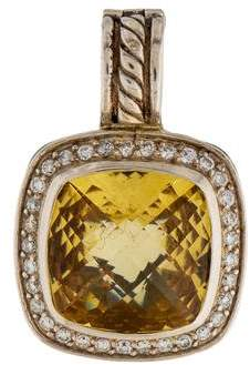 David Yurman Citrine & Diamond Albion Pendant