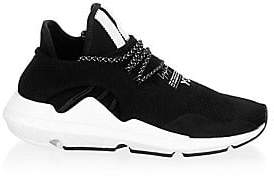 Y-3 Men's Round Toe Lace-Up Sneakers
