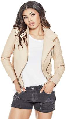 GUESS Women's Evelyn Faux-Leather Jacket