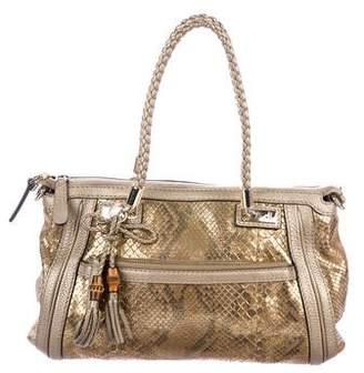 Gucci Python Bella Top Handle Bag
