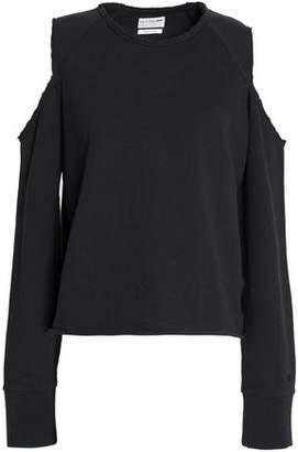Rag & Bone Cold-Shoulder Two-Tone Cotton-Jersey Top
