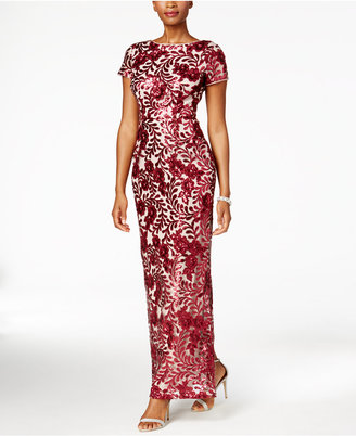 Betsy & Adam Sequined Lace Column Gown $269 thestylecure.com