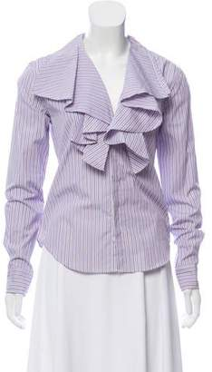 Ralph Lauren Black Label Striped Button-Up Top w/ Tags