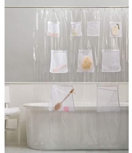 Symple Stuff Pockets Vinyl Shower Curtain