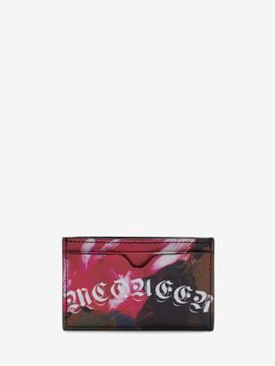 Alexander McQueen Painted Rose Card Holder