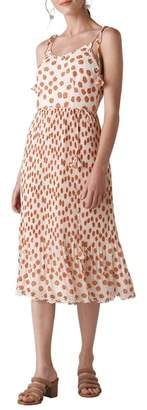 Whistles Salome Lenno Print Midi Dress