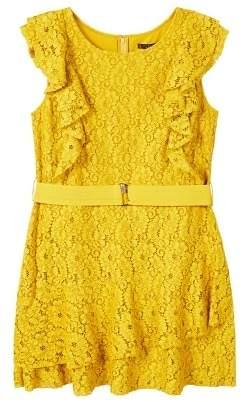Violeta BY MANGO Belted lace dress