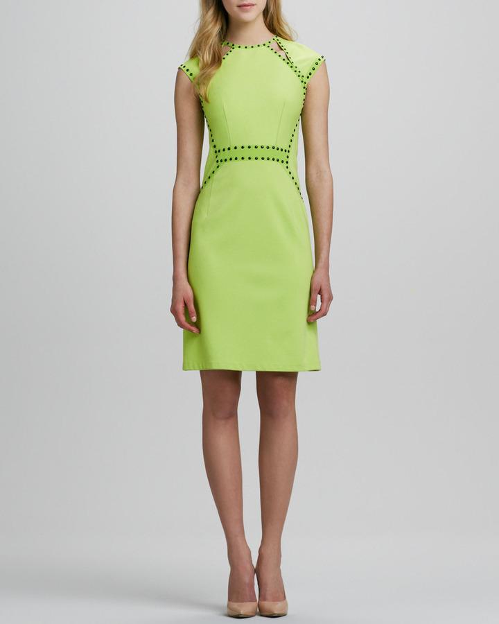 Nanette Lepore Trampoline Studded Cutout Dress
