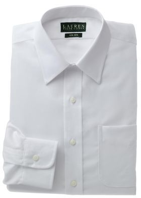 Lauren Ralph Lauren Regular Fit Non-Iron White Twill Dress Shirt