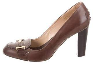 Tod's Round-Toe Loafer Pumps