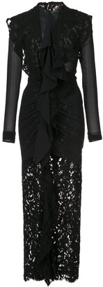 Proenza Schouler long sleeve corded lace dress