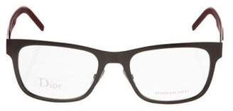 Christian Dior Square Eyeglasses red Square Eyeglasses