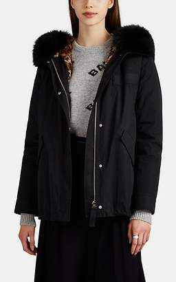 Yves Salomon Army by Women's 3-In-1 Fur-Trimmed & -Lined Tech-Twill Down Coat - Black