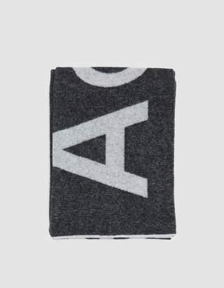 Acne Studios Toronty Logo Scarf in Black