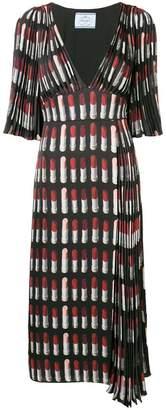 Prada lipstick print dress