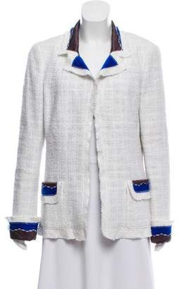 Chanel Tweed Open Front Jacket