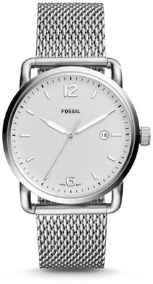 Fossil The Commuter Three-Hand Date Stainless Steel Watch