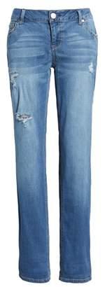 1822 Denim Ripped Girlfriend Jeans