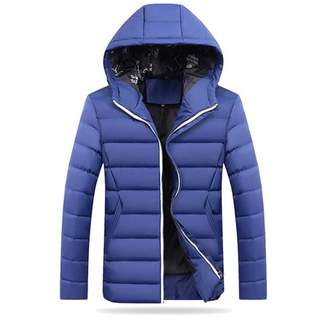 musiccrazyor Winter Men Thick Jacket Comfortable Men Cotton Outwear Hooded Jacket Coat