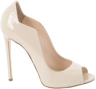 Gianmarco Lorenzi Ecru Patent leather Heels