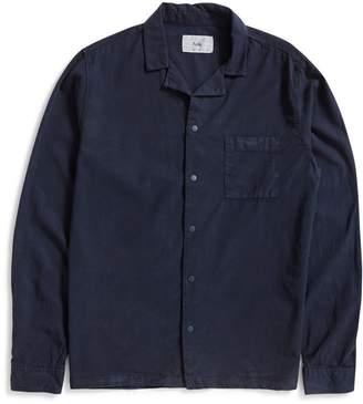 Folk Long Sleeve Soft Collar Shirt Navy