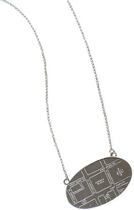 Olive And Poppy Wine Country Map Necklaces