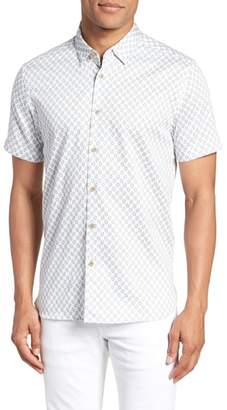 Ted Baker Newfone Trim Fit Chambray Sport Shirt