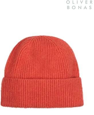 Next Womens Oliver Bonas Orange Cashmere Blend Beanie Hat